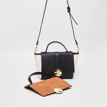 Charlotte Reid Textured Crossbody Bag with Detachable Flap
