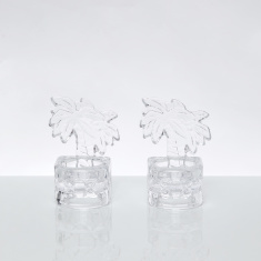 Palm Votives 2-Piece Tealight Candle Holder - 7.5x7x10 cms