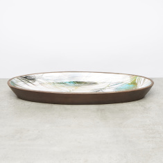 Decorative Oval Tray - 22.86x53.34 cms