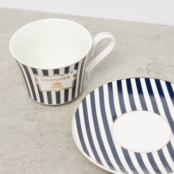 Printed 12-Piece Cup and Saucer Set - 220 ml