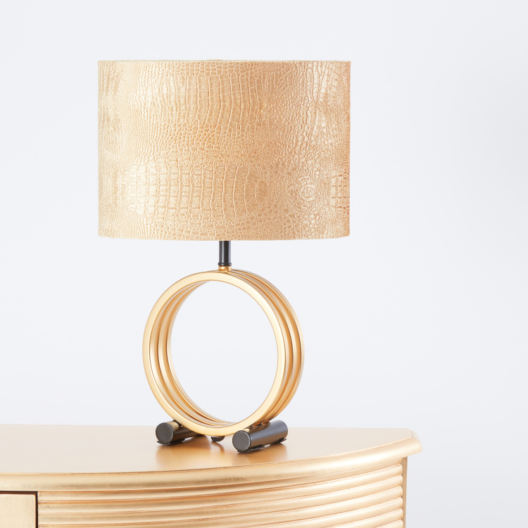 Metallic Table Lamp - 33x22x50 cms