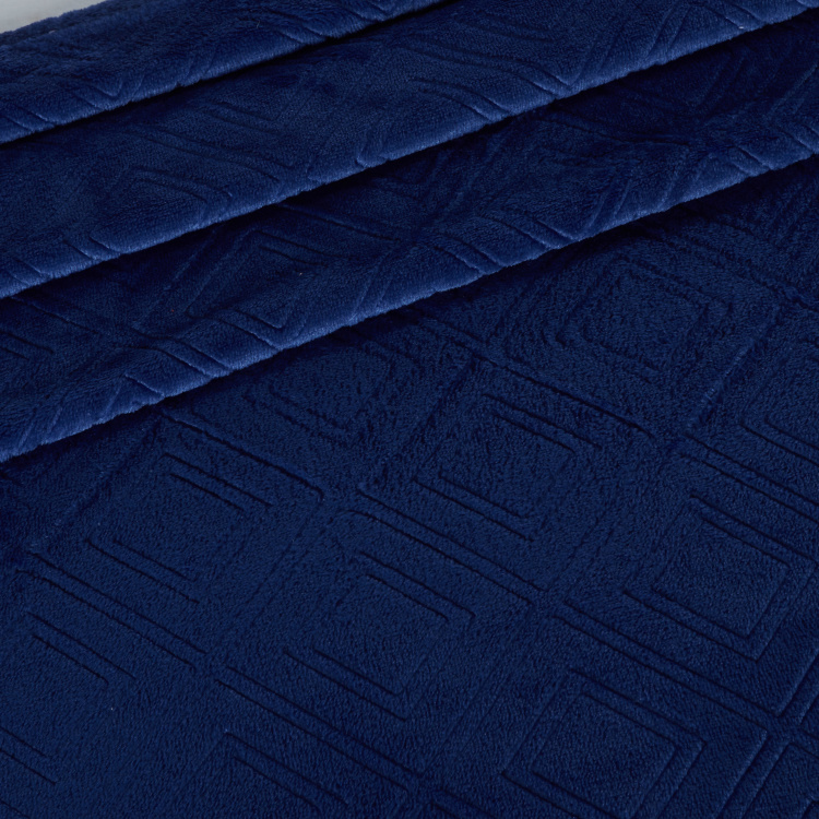 Embossed Velvet Plush Blanket - 229x229 cms