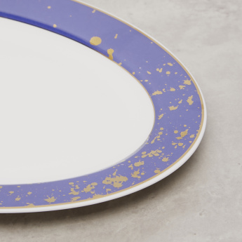 Oval Plate with Contrast Border - 31.8x21.5x1.2 cms