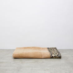 Leopard Printed Bath Sheet - 100x150 cms