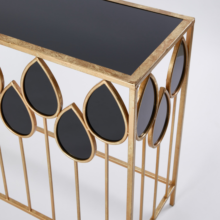 Rectangular Console Table with Glossy Finish - 99x38x80.5 cms