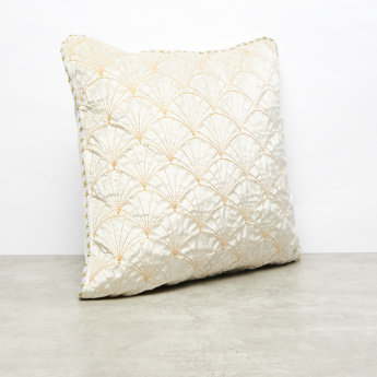 Mira Stitch Detail Filled Cushion - 45x45 cms