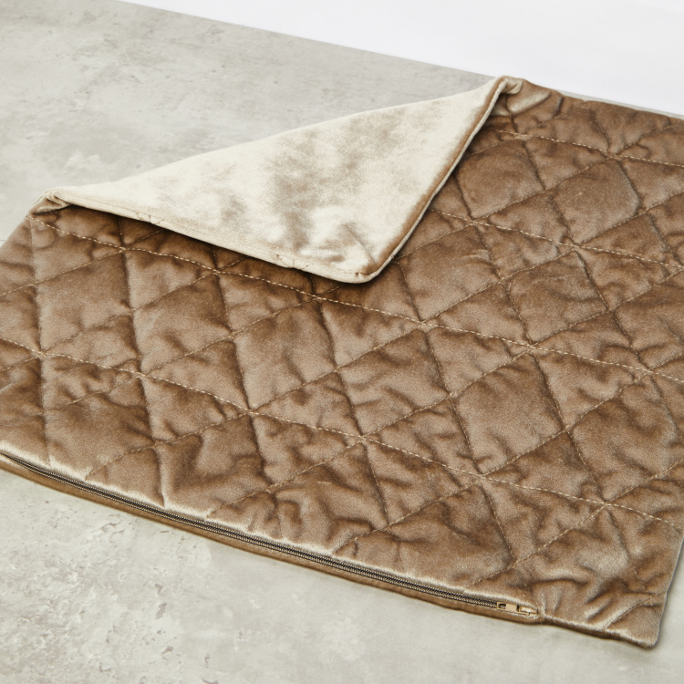 Diamond Quilted Cushion Cover -45x45 cms
