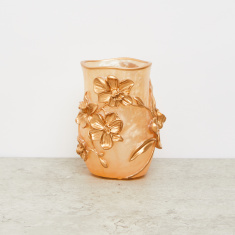 Floral Embossed Tumbler with Matte Finish
