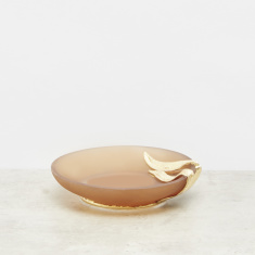 Seagrass Embossed Soap Dish with Matte Finish