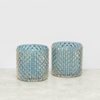 Embossed Rainbow Votive Tealight Holder – Set of 2