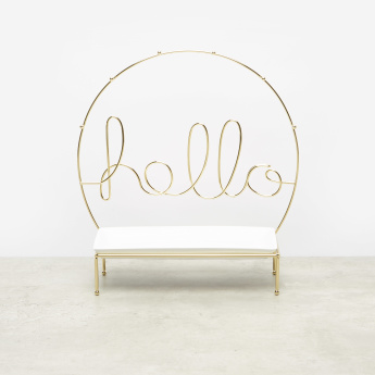 Metallic Hello Jewellery Organiser and Hanger