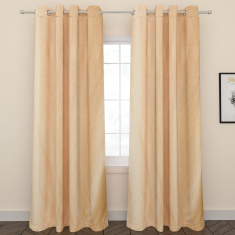 Mezola Jacquard 2-Piece Curtain Set with Lining - 135x260 cms
