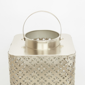 Cutwork  Lantern with Handle - 20x18.5x29 cms