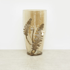 Moulded Leaf Accent Vase - 18x16.5x22.2 cms