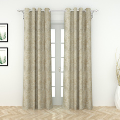 Esteem Jacquard Curtain Pair - 135x260 cms