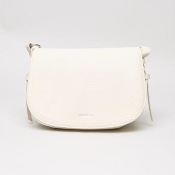 Fiorelli  Eva Textured Shoulder Bag with Flap Closure