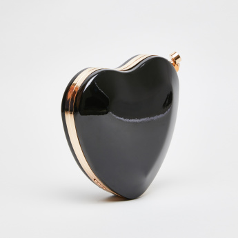 Peach Heart Shaped Box Clutch