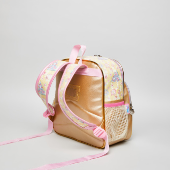 Minmie Bow Printed Backpack - 23x25.5 cms