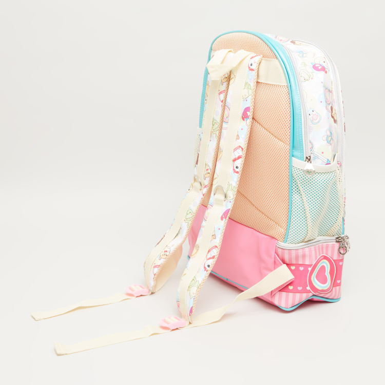Minmie Bunny Graphic Print Backpack - 45x31 cms