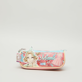 Minmie Bandana Printed Pencil Case with Applique Detail