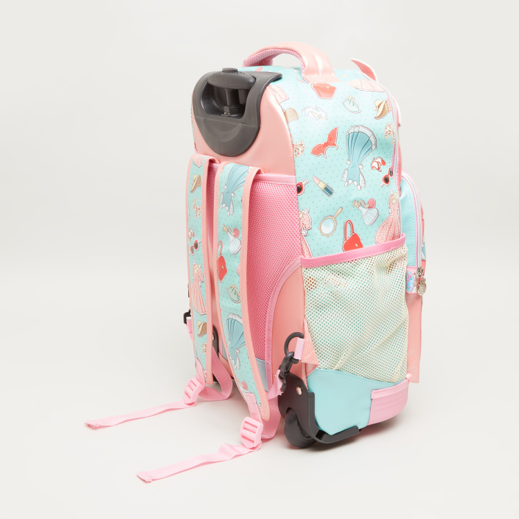 Minmie Bandana Print Trolley Backpack - 38x45 cms
