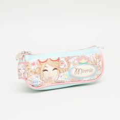 Minmie Goggles Printed Pencil Case with Zip Closure