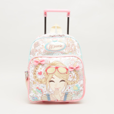 Minmie Goggles Printed Trolley Backpack - 26x31 cms