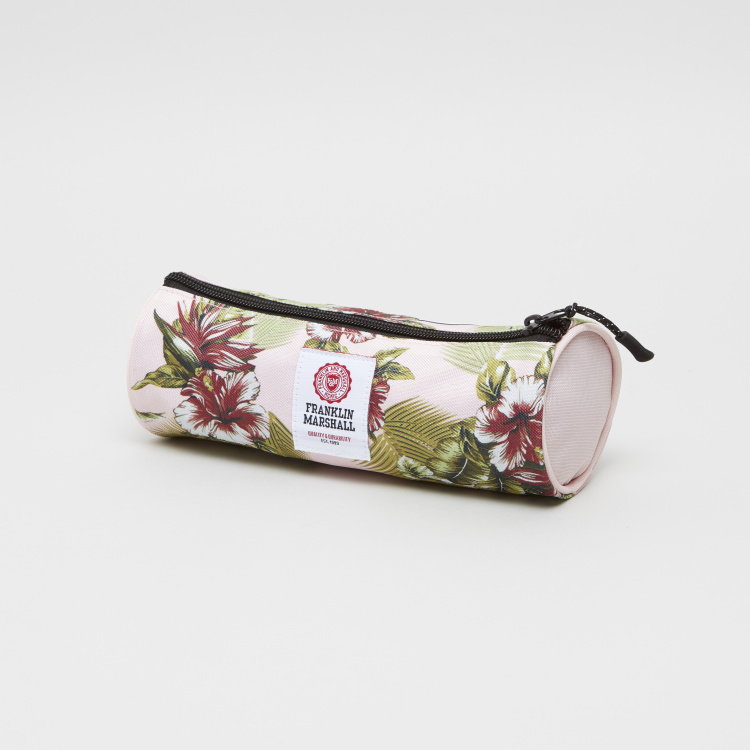 Franklin & Marshall Floral Print Cylindrical Pencil Case