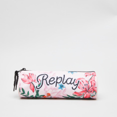 Replay Floral Printed Pencil Case