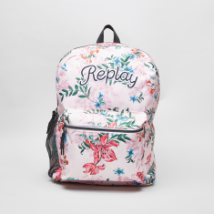 Replay Printed Backpack with Laptop Compartment