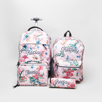 Replay Birds and Flower Printed Backpack - 42x30x43