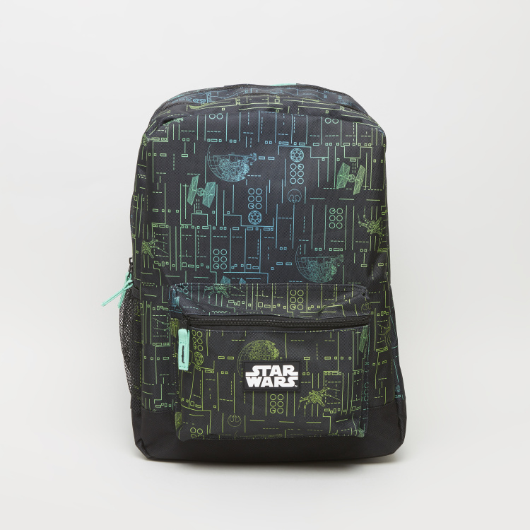 Star Wars Printed Backpack with Zip Closure - 42x30x83 cms