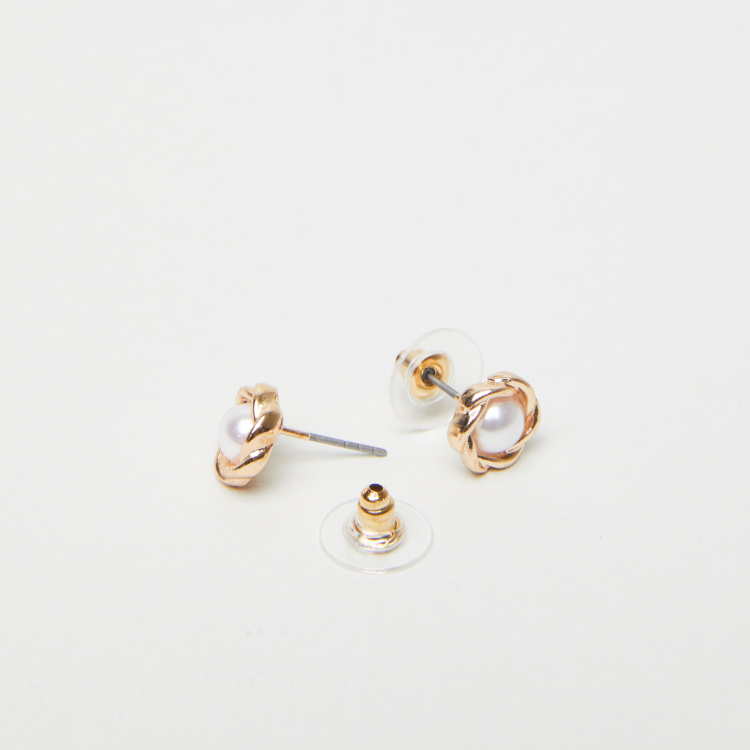 Embellished Stud Earrings - Set of 5