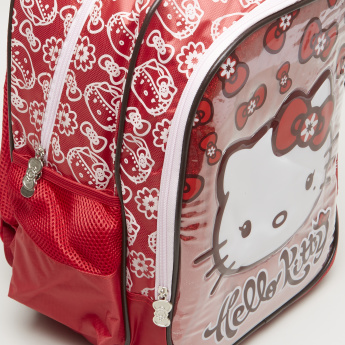 Hello Kitty Arabesque Printed Backpack with Zip Closure - 42x13x31 cms