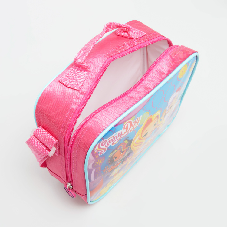Sunny Day Print Lunch Bag with Adjustable Strap