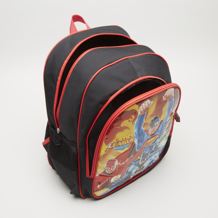Justice League Printed Backpack - 40.5x12x30 cms