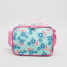 New Expressions Floral Printed Lunch Bag with Zip Closure