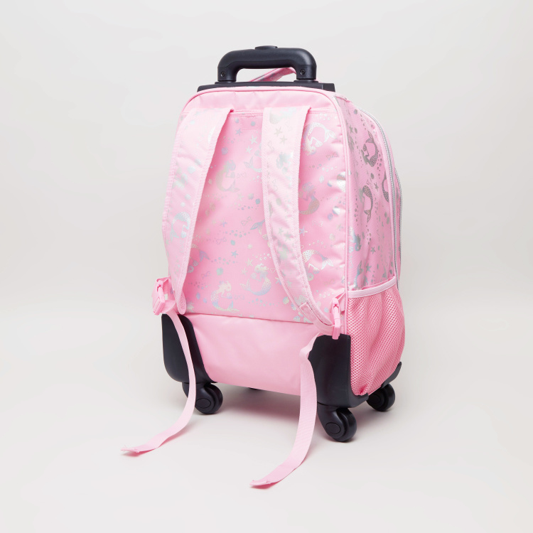 New Expressions Unicorn Iridescent Trolley Backpack - 32x14x41 cms