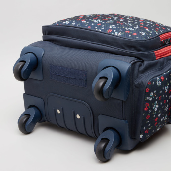 Pepe Jeans Jareth Floral Convertible Trolley Backpack - 32x45x15 cms
