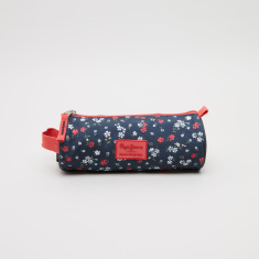 Pepe Jeans Jareth Floral Print Cylindrical Pencil Case