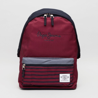Pepe Jeans Printed Backpack and Pencil Case Set