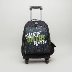 Roll Road California Printed Trolley Backpack - 32x45x15 cms
