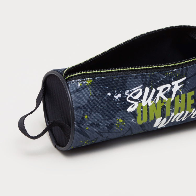 California Printed Pencil Case with Zip Closure