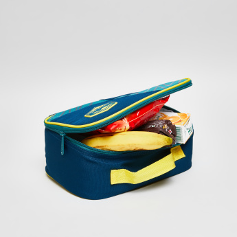 Neon Printed Lunch Bag with Zip Closure