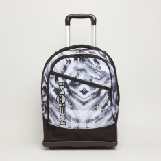 Reptile Printed Trolley Backpack with Zip Closure - 22x10x6.5 cms