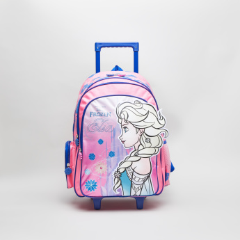 Frozen Printed Trolley Backpack with Retractable Handle - 32x15x45 cms
