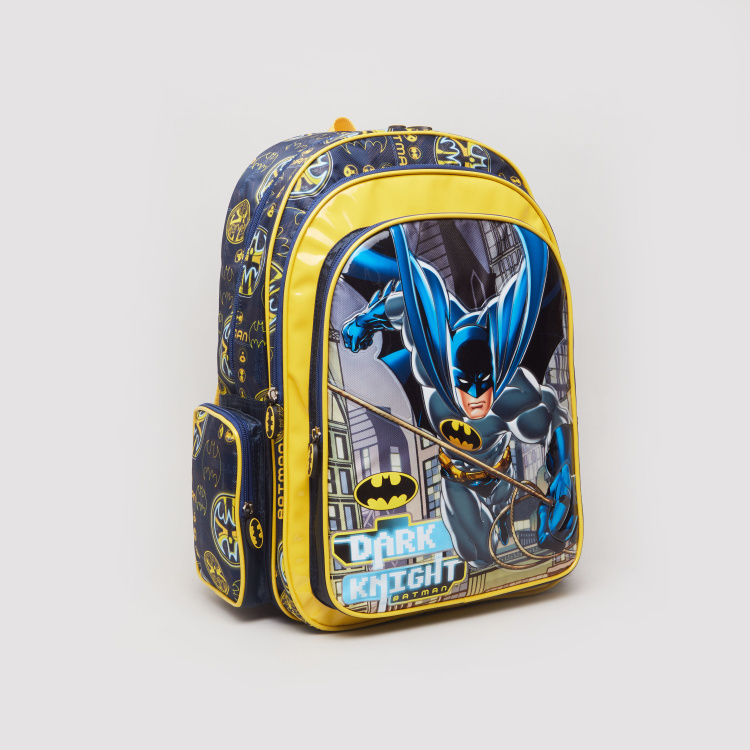 Batman Printed Backpack with Zip Closure - 32x15x45.7 cms