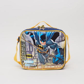 Batman Printed Lunch Bag with Zip Closure