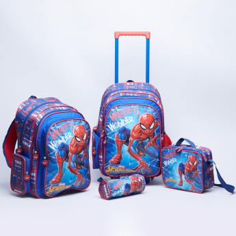 Spider-Man Print Backpack with Trolley - 32x15x45.7 cms