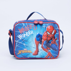 Disney Spider Man Printed Lunch Bag with Zip Closure